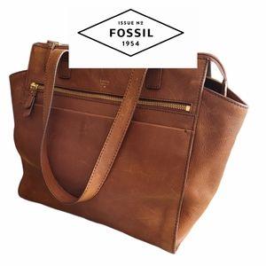 "Fossil ""Tessa"" Large Leather Satchel"